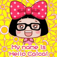 呆萌Hello菜菜搞笑qq头像 My name is Hello Caicai
